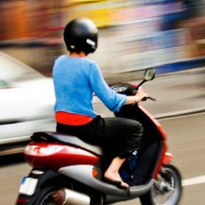 Скутер как женский вид транспорта