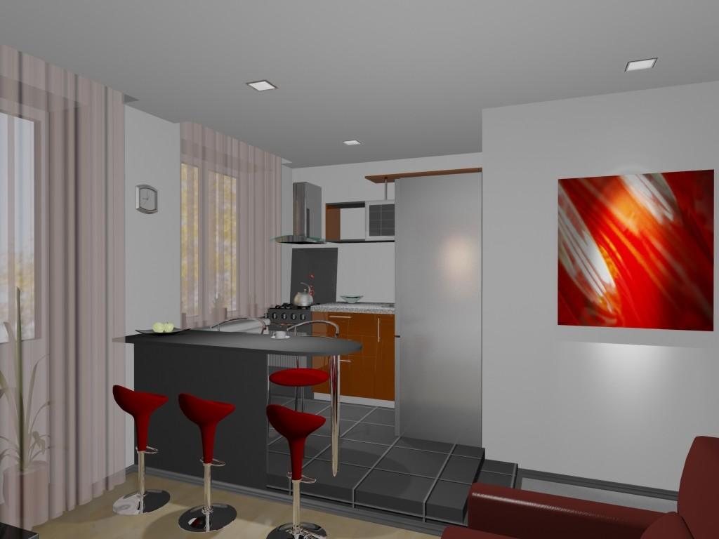 объединим кухню с гостиной